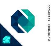 icon logo with a diamond  ... | Shutterstock .eps vector #691884220
