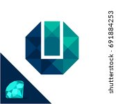 icon logo with a diamond  ...