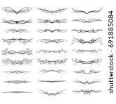 set of the vintage monogram | Shutterstock .eps vector #691885084