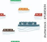 Editable Canal Boat Vector...