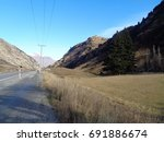 beautiful landscape rock valley ... | Shutterstock . vector #691886674