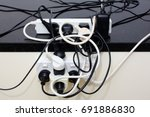 electrical overload | Shutterstock . vector #691886830