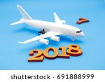 happy new year 2018 and... | Shutterstock . vector #691888999