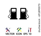 gas icon  vector best flat icon ... | Shutterstock .eps vector #691890073
