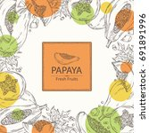 background with papaya and... | Shutterstock .eps vector #691891996