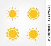 sun icon set  vector... | Shutterstock .eps vector #691895284