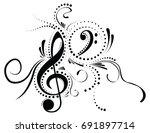music note | Shutterstock .eps vector #691897714