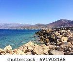 exotic coast of crete  greece  | Shutterstock . vector #691903168