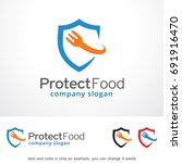 protect food logo template... | Shutterstock .eps vector #691916470