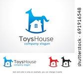 toys house logo template design ... | Shutterstock .eps vector #691916548