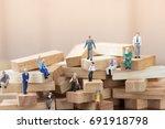miniature people  business man... | Shutterstock . vector #691918798