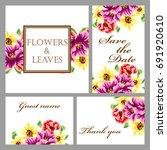 romantic invitation. wedding ... | Shutterstock .eps vector #691920610