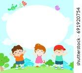 blank template character smiley ... | Shutterstock .eps vector #691920754