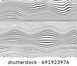 waved lines.wave stripe... | Shutterstock . vector #691923976