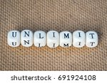 unlimit word made from toy... | Shutterstock . vector #691924108