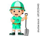 vector illustration of cute... | Shutterstock .eps vector #691925440