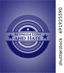 between love and hate badge... | Shutterstock .eps vector #691925590