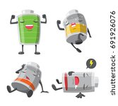 battery man action cartoon... | Shutterstock .eps vector #691926076