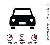 car icon  stock vector... | Shutterstock .eps vector #691926670