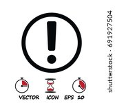 exclamation mark icon  stock... | Shutterstock .eps vector #691927504
