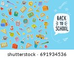 concept of education. back to... | Shutterstock .eps vector #691934536