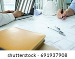 image of engineer meeting for... | Shutterstock . vector #691937908