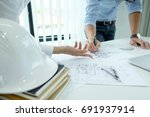 image of engineer meeting for... | Shutterstock . vector #691937914