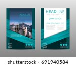 annual report brochure layout... | Shutterstock .eps vector #691940584