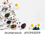 variety of dried tea  dried... | Shutterstock . vector #691943059