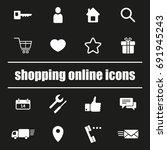 set of shopping online icons. e ... | Shutterstock .eps vector #691945243