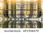 high and low voltage cables... | Shutterstock . vector #691946470