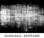 grunge halftone black and white.... | Shutterstock . vector #691951300