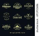 outdoors adventure badges | Shutterstock .eps vector #691952686