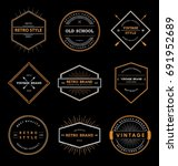 retro style badge collection | Shutterstock .eps vector #691952689