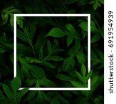 white square frame  above the... | Shutterstock . vector #691954939
