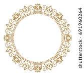 decorative line art frames for... | Shutterstock . vector #691960264