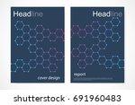 scientific brochure design... | Shutterstock .eps vector #691960483