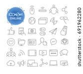 outline icon set. vector... | Shutterstock .eps vector #691962280