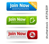 join now modern minimal button... | Shutterstock .eps vector #69196309