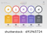 infographics design template... | Shutterstock .eps vector #691965724