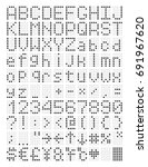 digital terminal table led font | Shutterstock .eps vector #691967620