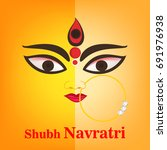 happy navratri  vector... | Shutterstock .eps vector #691976938