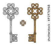 key in the celtic style. sign... | Shutterstock .eps vector #691976968