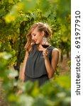 attractive stylish woman...   Shutterstock . vector #691977910
