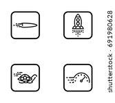 set of speed outline vector... | Shutterstock .eps vector #691980628