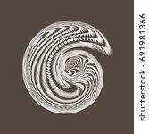 abstrackt spiral background   Shutterstock . vector #691981366
