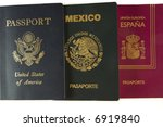 three passports | Shutterstock . vector #6919840