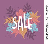 autumn fall special offer... | Shutterstock .eps vector #691985944