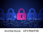 protection concept. protect... | Shutterstock .eps vector #691986958