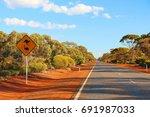 australian outback road | Shutterstock . vector #691987033